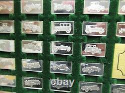 Franklin Mint The Centennial Car Sterling Silver Mini-Ingot Collection & Box
