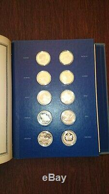 Franklin Mint The Fifty-State Bicentennial Medal Collection 50oz Sterling Silver