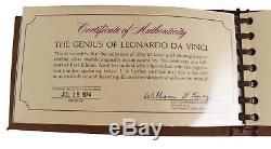 Franklin Mint The Genius of Leonardo Davinci 24K Gold on Sterling Silver 50 Coin