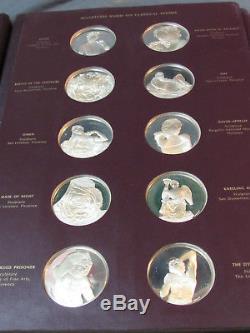 Franklin Mint The Genius of Michelangelo 60 Sterling Silver Medal Complete Set