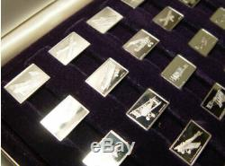 Franklin Mint The Great Airplanes 50 Sterling Silver Miniature Ingot Collection