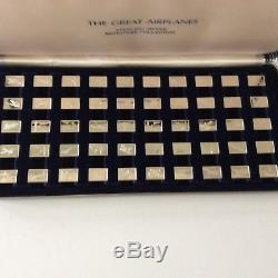 Franklin Mint The Great Airplanes Sterling Silver 50 Ingot Miniature Collection