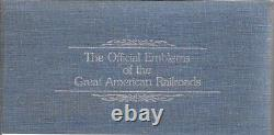 Franklin Mint The Official Emblems of The Great American Railroads Silver Ingots