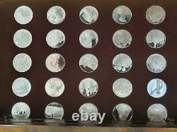 Franklin Mint The Treasures Of The Renaissance 88/100 Sterling Silver wood chest