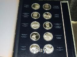 Franklin Mint Treasures Of The Louvre 50 Coin Sterling Silver Proof Set