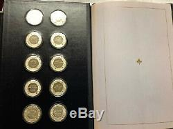 Franklin Mint Treasures of the Louvre Proof Sterling Silver 50-Coin Set