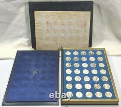 Franklin Mint Treasury Of Presidential Commemorative Medals Sterling Silver