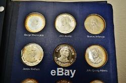 Franklin Mint Treasury Of Presidential Commemorative Medals -sterling Silver