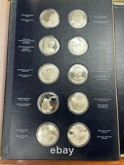 Franklin Mint Treasury of the Louvre Sterling Silver Medals Complete Collection