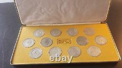 Franklin Mint Twelve Caesars Sterling Silver Medal Collection