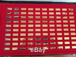 Franklin Mint World's Great Perform Cars 100 24kt. Gold Plate Sterling Silver