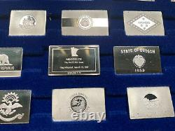 Franklin mint Sterling silver State flag set