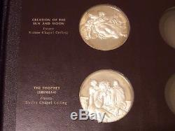 Genius of Michelangelo Sterling Silver 925 Proof Medals 15 Coins Franklin Mint