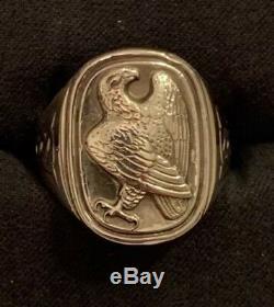 Georg Jensen 925 Sterling Eagle Ring For The Franklin Mint Sz 8.75