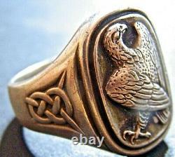 Georg Jensen Sterling Silver 925 Denmark 1982 Franklin Mint Eagle Ring Sz 11