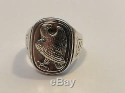 Georg Jensen Sterling Silver. 925 Eagle Ring For The Franklin, Mint Size 10