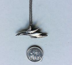 Georg Jensen Sterling Silver 925 Franklin Mint Geese Ducks Pendant 1982 Denmark