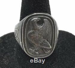 George Jensen Sterling Silver 925 Franklin Mint Eagle Ring Size 8 3/4 Denmark