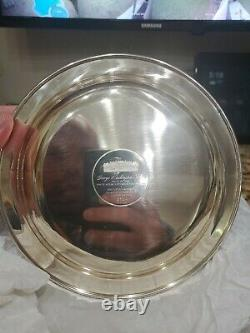 George Washington Plate -Solid Sterling Silver, 24kt Gold Inlay 1972 s/n 3704