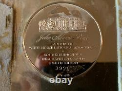 George Washington. Plate Sterling 925 White House Hist Assoc. Franklin Mint 1972