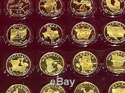 Gold On Sterling Silver, Franklin Mint Governors Edition Coins