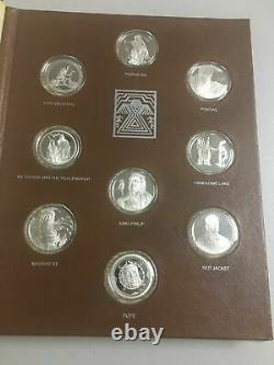 Great American Indian Chiefs Medal Collection Sterling Silver Coins Franklin