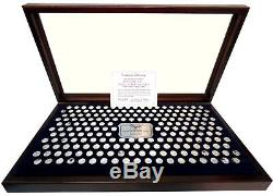 History of the United States Sterling Silver Mini Coin Collection Franklin Mint