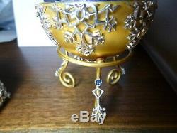 Igor Carl Faberge Winter Enchantment Egg. 925 Sterling Silver Franklin Mint