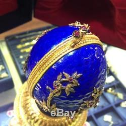 Igor Carl The Faberge Musical Firebird Egg. 925 Sterling Silver Franklin Mint