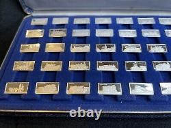 International Locomotive Sterling Silver Miniature Collection Franklin Mint COA