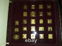 International Society of Postmasters Solid Sterling Silver Stamps about =30 oz