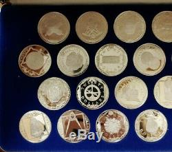J123 Franklin Mint 25 Treasure Coins of the Caribbean Sterling Silver Set +1