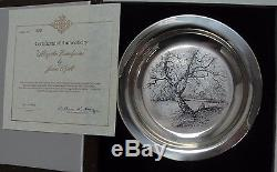 James Wyeth Along The Brandywine Sterling Silver Collector Plate With Box #JW72
