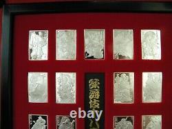 Japanese Kabuki Sterling Ingot Collection Franklin Mint 18 Pc