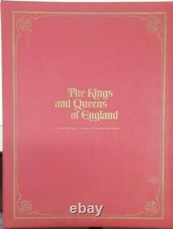 Kings & Queens of England Sterling Silver Medal Set 43 Pcs. From Franklin Mint