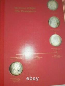 Kings & Queens of England Sterling Silver Medal Set 44 Pcs. From Franklin Mint