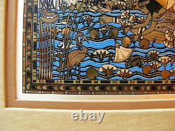 Kinuko Set of 2 Etchings for Franklin Mint, Egyptian Pictures, Sterling Silver