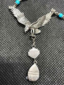 Ladies Harley Davidson / Franklin Mint Eagle STERLING SILVER Necklace