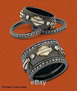 Ladies Spirit of Harley Stacking Ring Gold version Franklin Mint SZ8 D4J8671