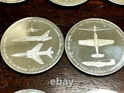 Lot Of Ten (10) Sterling Silver United States Army Air Navy Medal Coins