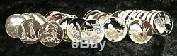 Lot of 54 Franklin Mint. 925 Sterling Silver Proof Postmasters Medals