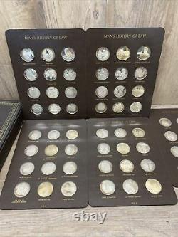 Mans History of Law Franklin Mint 60-Piece Proof Set Sterling Silver