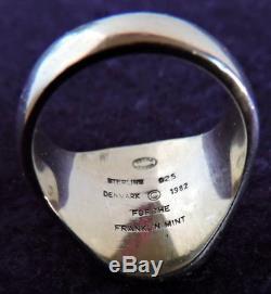 Men's Georg Jensen Eagle Ring Franklin Mint Size 10 Sterling Silver