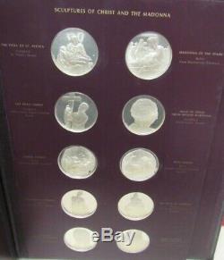 Michelangelo Franklin Mint 60 Sterling Silver Gem Coins (14349-safe-B)
