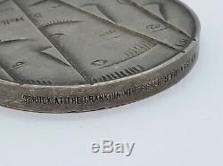 Mid Century 1971 B. Helleberg Franklin Mint Solid Sterling Silver Medallion
