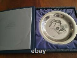 Mother and Child 1976 Franklin Mint Sterling Silver Plate Irene Spencer No. 1032