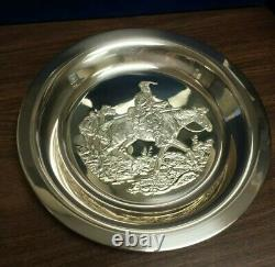 Mountain Man by Gordon Phillips Sterling Silver Collector Plate