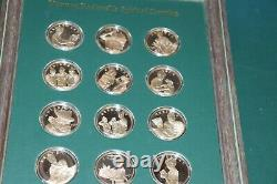 NORMAN ROCKWELL'S SPIRIT OF SCOUTING STERLING SILVER PROOF 12 COIN SET WithFRAME