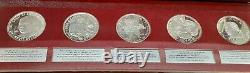 National Commemorative Society Series II Sterling Silver 50 Medal Set Proof