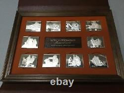 Norman Rockwell 1973 Fondest Memories 10 Ingots, 31 Troy Ounces Sterling Silver
